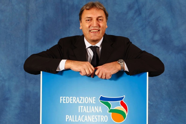 Il saluto del Presidente della F.I.P. Dino Meneghin